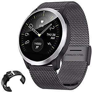 QKa Smart Watch mit Blutdruck-Herzfrequenzmessgerät und..